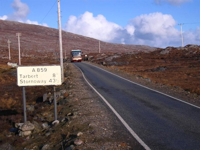 Travelling the main road through Harris